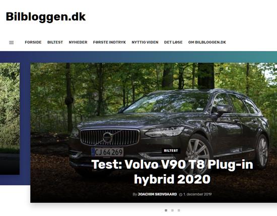 Screenshot af Bilbloggen